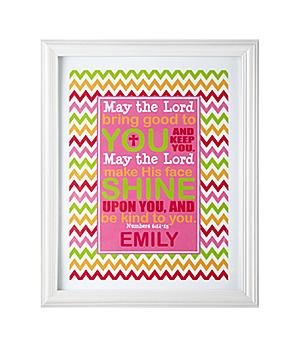 May the Lord Print Personalized May the Lord