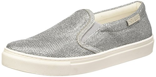 Guess Fabric Active - Sneakers basse da donna, Argento (Silver), 37