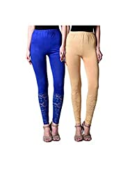BULLY Women's Net Viscose Leggings Combo Pack of 2