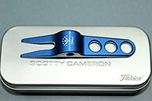 Titleist Scotty Cameron Golf Pivot Divot Tool with Tin Collectors Can - BLUE by Scotty Cameron