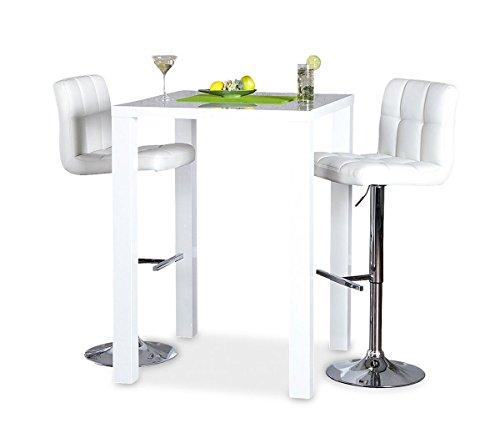 Bar-Tisch-Tresen-Kchentisch-Wei-Hochglanz-Stehtisch-Bartresen-Esstisch-Ablage-Kche-105x80x80cm