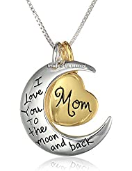 I Love You To The Moon And Back MOM Necklace By Via Mazzini (NK0403)