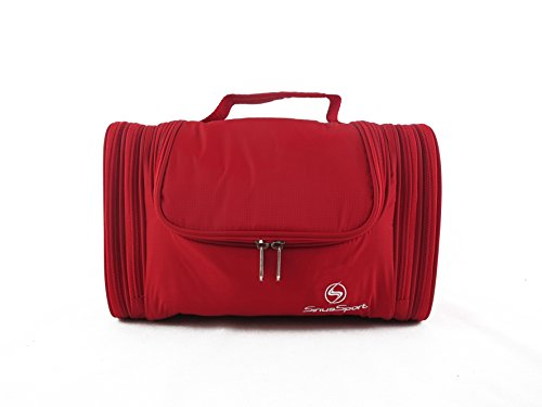 Sirius Sport Grande da Appendere per trucco, Beauty case Cosmetic Bag, Bagno con gancio. Impermeabile Wash Bag Red