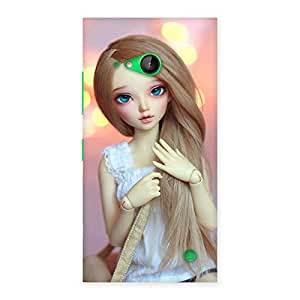Delighted Doll With Bag Multicolor Back Case Cover for Lumia 730