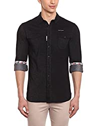 Punctuate Men's Casual Shirt (0666995118160_PNS166751_x-large_Black)