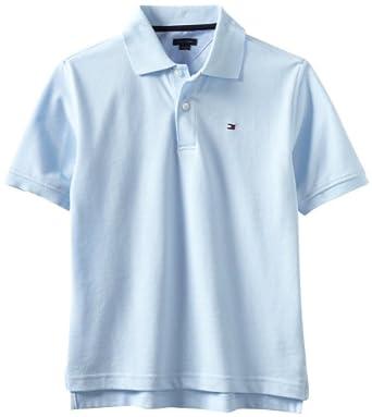 Tommy Hilfiger Big Boys' Ivy Polo Shirt, Capri Blue, Small
