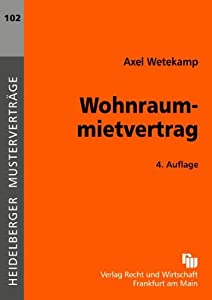 Wohnraummietvertrag (Heidelberger Musterverträge)