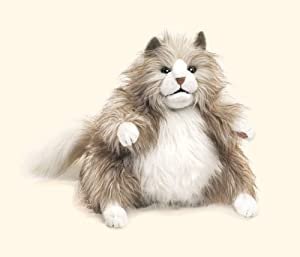 Folkmanis Puppet Fluffy Cat by Folkmanis