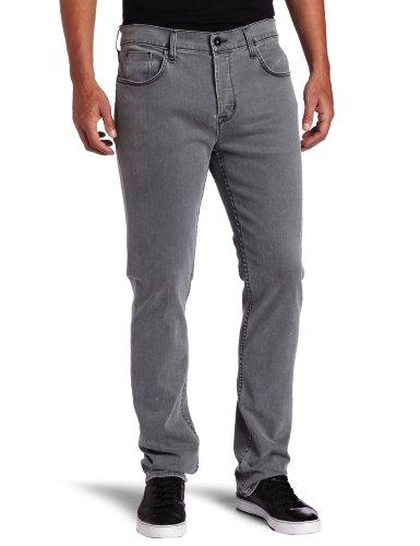 Hudson Jeans Men's Sartor Slouchy Skinny Leg Jean in Carbon Grey