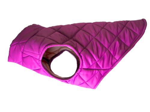 American Digs Quilted Puffer Dog Coat XXS Fuschia, Fits Dogs 2-5 lbs