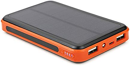 ALLPOWERS™ 10000mAh Solar Battery Charger with iSolar™ Technology for iPhone, iPad Air mini, iPod, Samsung, Android Smart Phones and Tablets, Gopro Camera and other 5V USB devices(Orange)