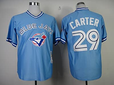 Toronto Blue Jays #29 CARTER Men's MLB Jersey Light Blue