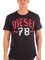 Diesel Camiseta Manga Corta Lonad (Negro)