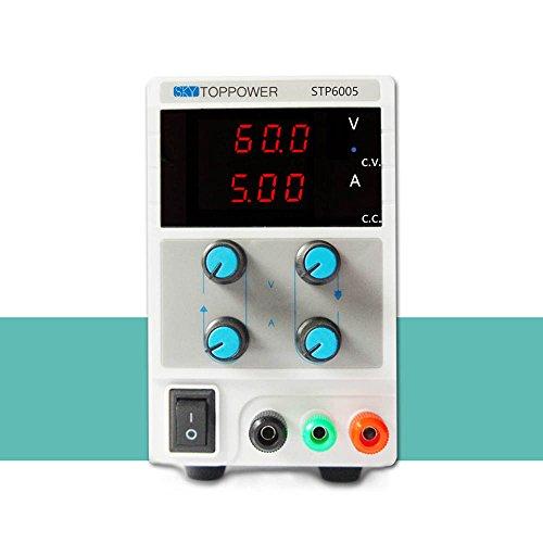 KKmoon 0-60 V 0-5A Mini Alimentatore Disciplinato Laboratorio Digitale DC Regolabile Uscita Di Tensione Attuale STP3003 EU Plug
