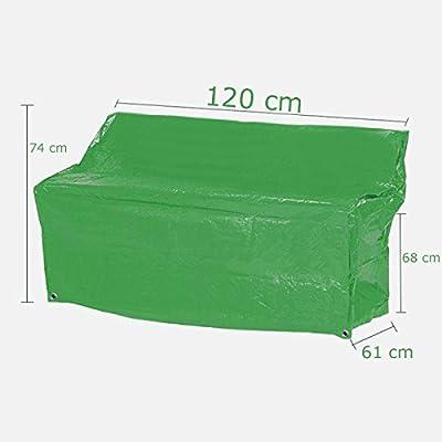 Schutzhülle für Sitzbank Garten Hülle Abdeckung Haube Grün 120x74x61cm von Lissek bei Gartenmöbel von Du und Dein Garten