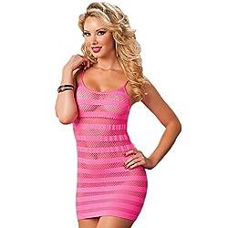 Nimra Fashion Fishnet Chemise Dress (Free)
