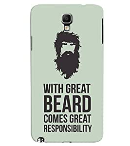 ColourCrust Galaxy Note 3 Neo Mobile Phone Back Cover With Beard Quote Quirky - Durable Matte Finish Hard Plastic Slim Case