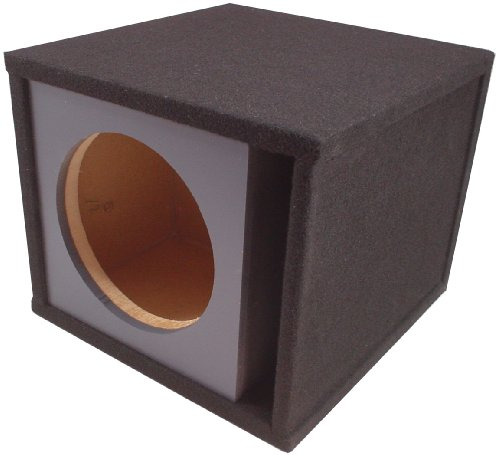 "Asc Single 12"" Round Universal Subwoofer Paintable Baffle Slot Vented Port Sub Box Speaker Enclosure"