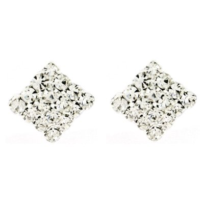 Clip On Earrings Store Small Diamond Crystal Clip On Earrings