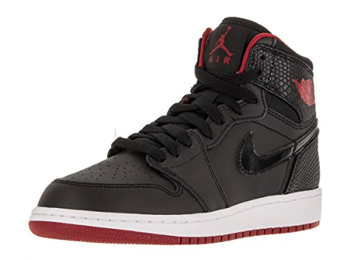 Nike Jordan Kids Air Jordan 1 Retro High BG Black/Gym Red/White Basketball Shoe 5.5 Kids US (Jordan 1 Red And Black compare prices)