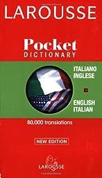 Larousse Pocket Italian English English Italian Dictionary Larousse