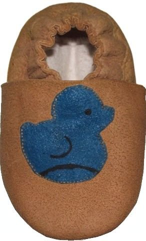 Image of Tibet PLATEAU soft soled infant full grain leather baby shoes blue duck (B001EXI9NM)
