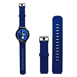 Creazy® Sport Silicone Watch Band Strap with Steel Buckle for Huawei Smart Watch (Blue)