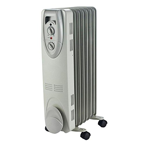 1500-Watt Electric Oil-Filled Radiant Portable Heater - Grey (Oil Filled Heater Cuori compare prices)