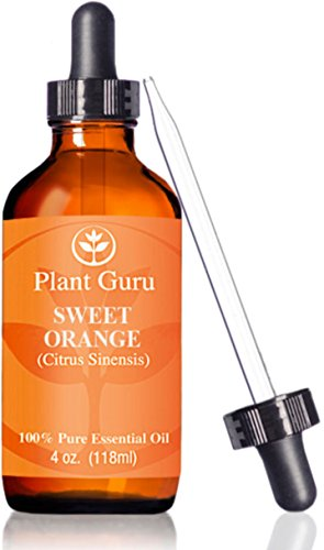 ? Sweet Orange Essential Oil ?HUGE 4 oz ? Therapeutic Grade ? 100% Pure & Natural ? With Glass Dropper