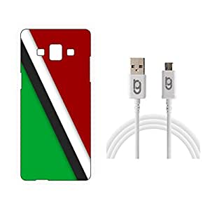 Designer Hard Back Case for Samsung Galaxy A5 with 1.5m Micro USB Cable
