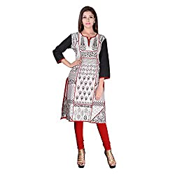 FACTORYWALA Womens Cotton Straight Kurti (001_Red_36)