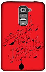 Timpax Protective Hard Back Case Cover With access to all controls and ports Printed Design : Lyrics and music.100% Compatible with LG G2 mini ( D618 )