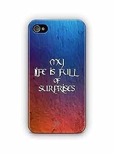 YuBingo My Life is Full of Surprises Designer Mobile Case Back Cover for Apple iPhone 4S