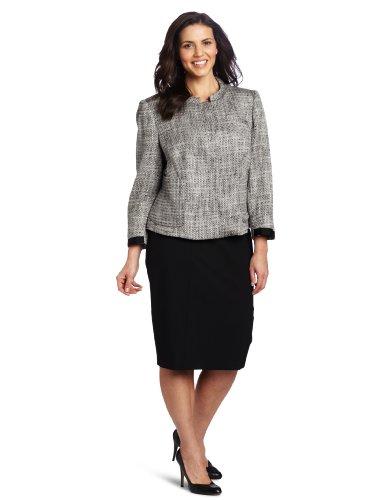 Jones New York Women's Short Roll Collar Jacket