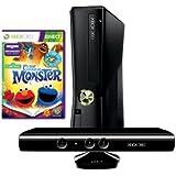 Xbox 360 - Konsole Slim 4 GB inkl. Kinect Sensor + Sesamstraße: Es war einmal ein Monster, schwarz-matt