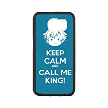 buy Keep Calm And Call Me King Black Stylish Cover Case & Dust Plug For Samsung Galaxy S6 With High-Quality Plastic