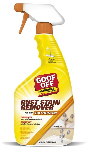 Goof Off QSX20001 Bathroom Rust Stain Remover Spray Gel, Trigger Spray 32-Ounce