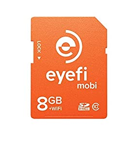 Eyefi Mobi 8GB SDHC Class 10 Wi-Fi Memory Card with 90-day Eyefi Cloud Service, Frustration Free Packaging (MOBI-8-FF)