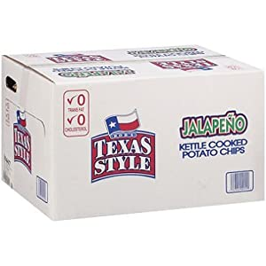 Bob's Texas Style Jalapeno Kettle Cooked Potato Chips of 1 Oz BAG - 72 Bags