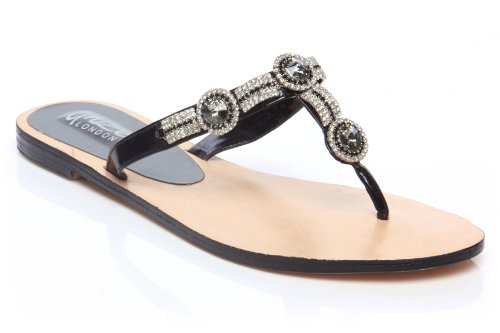 Cheap Unze Women Combinational Stone Adorned Thong Summer Party, Evening, Wedding Slipper – Ab-3212 (B007V9X6UE)