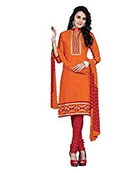 ShoppiZe Women's Cotton Unstitched Dress Material(Anaya-04_Multicolor_FreeSize)