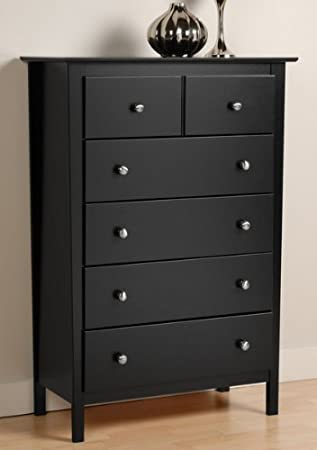 Berkshire 5 Drawer Chest, Black Finish