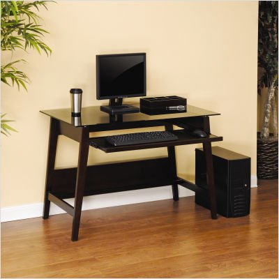 Buy Low Price Comfortable Steadfast Grand Lake Series Computer Desk in Espresso (B003SLRX3U)