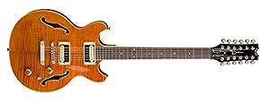 Dean BOCA 12 String Semi Hollow Body Electric Guitar Trans Amber