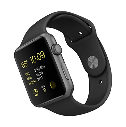 Apple-Watch-Sport-42-mm-Smartwatch-iOS-de-aluminio-en-gris-espacial-pantalla-165-8-GB-520-MHz-512-MB-RAM-correa-deportiva-negra-versin-europea