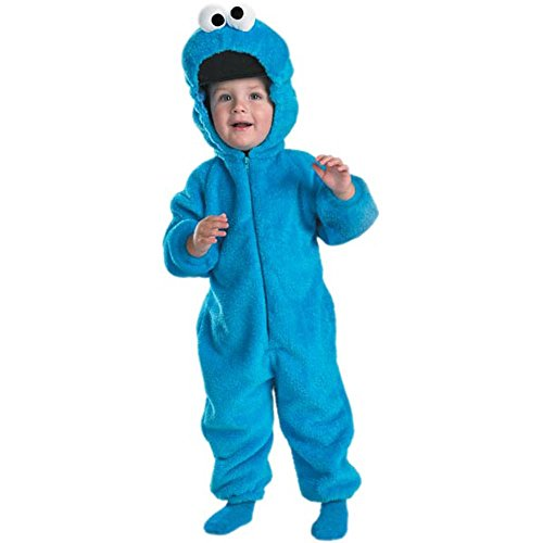 [Cookie Monster Deluxe Costume - Toddler Small] (Mens Monster Costumes)