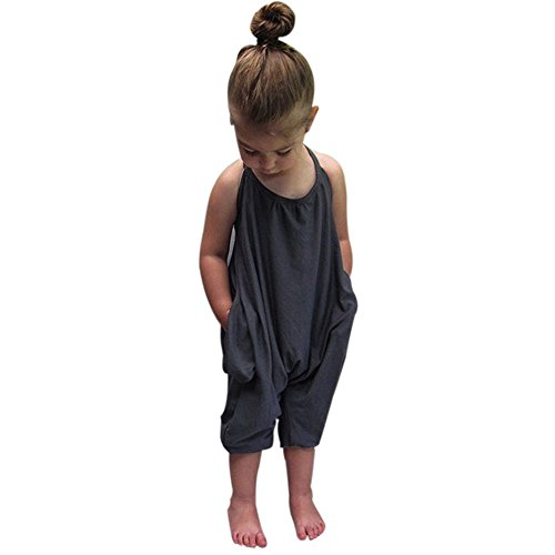 Franterd Baby Girls Straps Rompers, Kid Jumpsuits Piece Pants Clothing (Polo Dress Pants compare prices)