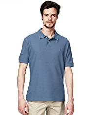 Blue Harbour Cotton Rich Fairtrade Plain Polo Shirt