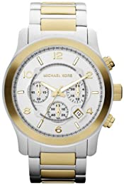 Michael Kors Men's MK8283 Gold Stainless-Steel Quartz Watch with White Dial