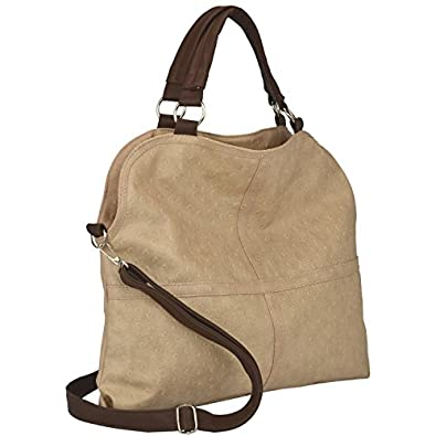 MG Collection LUCIA Beige Everyday Free Style Soft Ostrich Tote Shoulder Bag
